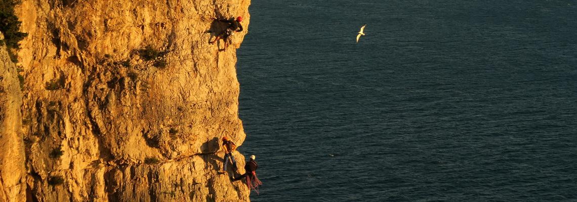 La parete di Gaeta, meta del corso base di arrampicata
