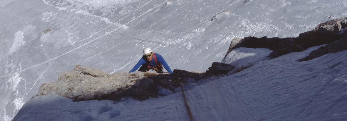 Salita invernale sulla est del Corno Piccolo al Gran Sasso, corso di alpinismo invernale